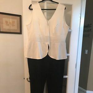 Jumpsuit white/black
